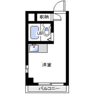 1R Mansion in Maesatocho - Yokohama-shi Minami-ku Floorplan
