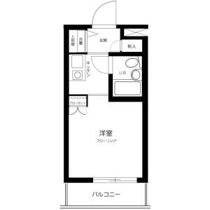 1R Mansion in Okudo - Katsushika-ku Floorplan