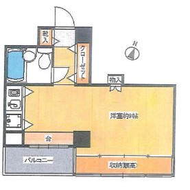 1R Mansion in Kitashinjuku - Shinjuku-ku Floorplan