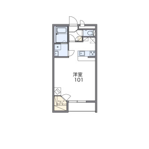 1K Mansion in Nagayoshinagahara - Osaka-shi Hirano-ku Floorplan