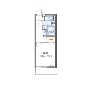 1K Mansion in Zaimokucho - Higashimatsuyama-shi Floorplan