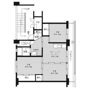 3DK Mansion in Ishigami - Kamo-gun Kawabe-cho Floorplan