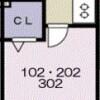 在習志野市内租赁1K 公寓 的 楼层布局