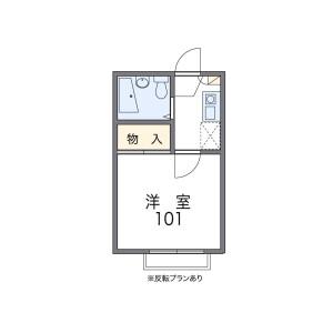 1K Apartment in Miyacho - Saitama-shi Omiya-ku Floorplan