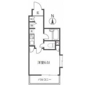1K Mansion in Nishishinjuku - Shinjuku-ku Floorplan