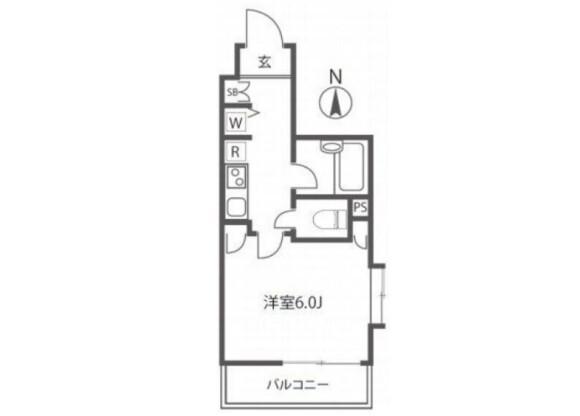 1K マンション 新宿区 間取り