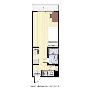 1R Mansion in Kudankita - Chiyoda-ku Floorplan