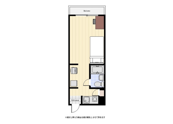 1R Apartment to Rent in Chiyoda-ku Floorplan