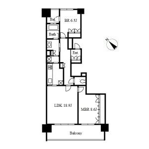 2LDK Mansion in Hoshigaokayamate - Nagoya-shi Chikusa-ku Floorplan