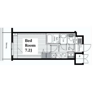 中央区銀座-1K公寓大厦 楼层布局