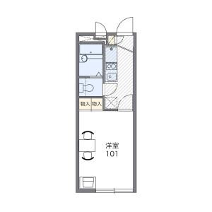 1K Mansion in Nagatsutacho - Yokohama-shi Midori-ku Floorplan