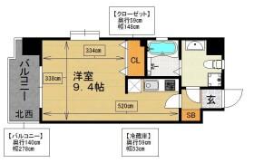 福岡市中央区 舞鶴 1K {building type}