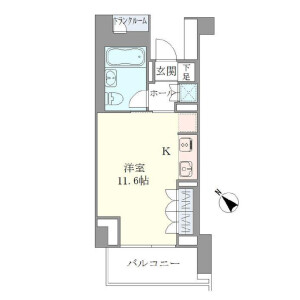1R Mansion in Ebisunishi - Shibuya-ku Floorplan