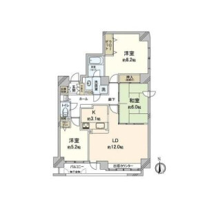 3LDK {building type} in Hiragishi 2-jo - Sapporo-shi Toyohira-ku Floorplan