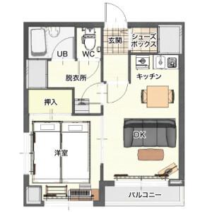 1DK Mansion in Tsurumichuo - Yokohama-shi Tsurumi-ku Floorplan