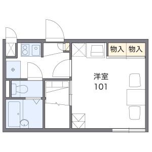 1K Apartment in Fukakusa fujinomorigembacho - Kyoto-shi Fushimi-ku Floorplan