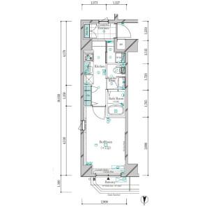 1K Apartment in Ishiwara - Sumida-ku Floorplan