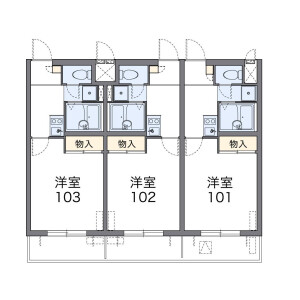 1K Mansion in Omorikita - Ota-ku Floorplan