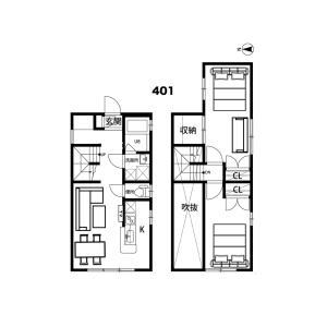 2LDK Mansion in Yamabukicho - Shinjuku-ku Floorplan