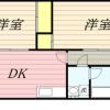 2DK Apartment to Rent in Nishitokyo-shi Floorplan