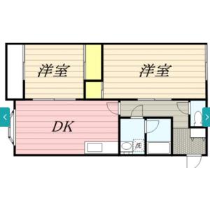 2DK Apartment in Hoyacho - Nishitokyo-shi Floorplan