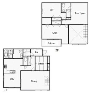 3LDK Town house in Yatomicho maruyama - Nagoya-shi Mizuho-ku Floorplan