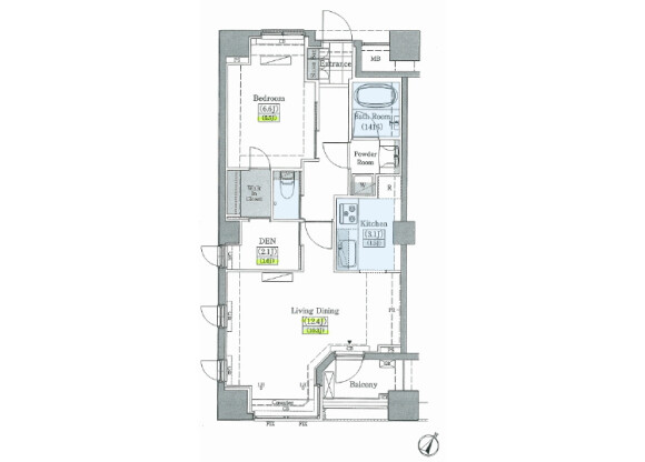 1SLDK Apartment to Rent in Toshima-ku Floorplan