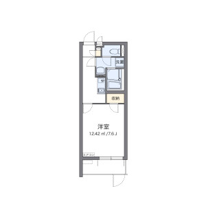 1K Mansion in Hasunumacho - Itabashi-ku Floorplan