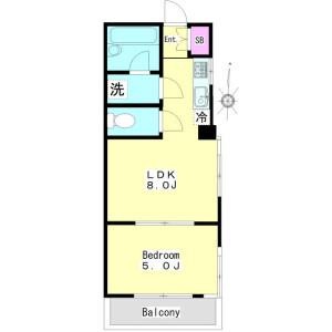 1LDK Mansion in Kamitakaido - Suginami-ku Floorplan