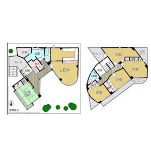 5LDK {building type} in Momoyama mizunosakonnishimachi - Kyoto-shi Fushimi-ku Floorplan