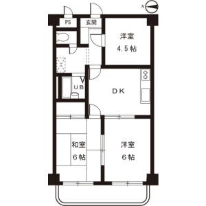 3DK Mansion in Kanai - Machida-shi Floorplan