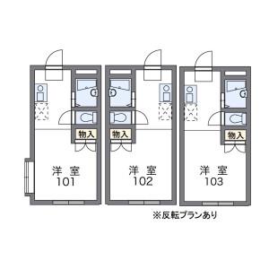 1K Apartment in Kashiwacho - Tachikawa-shi Floorplan