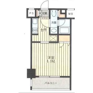 1K Mansion in Shinyokohama - Yokohama-shi Kohoku-ku Floorplan