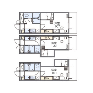 1K Apartment in Komaba - Meguro-ku Floorplan
