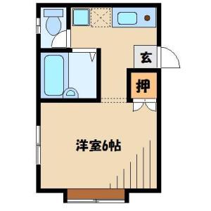 1K Apartment in Hanaguri - Soka-shi Floorplan