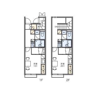 1K Apartment in Ichinomiyacho - Suzuka-shi Floorplan