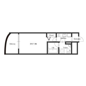 1K Mansion in Esakacho - Suita-shi Floorplan