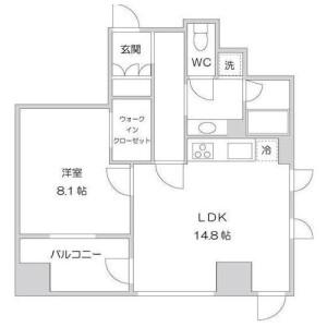1LDK Apartment in Kojimachi - Chiyoda-ku Floorplan