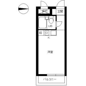 1R Mansion in Aihara - Sagamihara-shi Midori-ku Floorplan