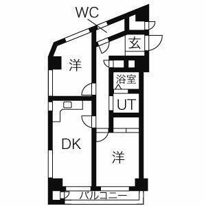 2DK Mansion in Nishinippori - Arakawa-ku Floorplan
