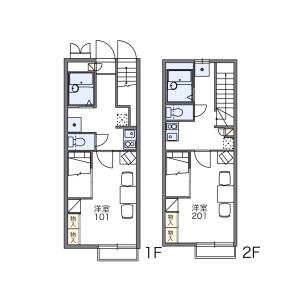 1K Apartment in Tohocho - Nagoya-shi Nishi-ku Floorplan