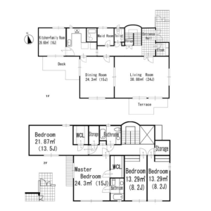 4SLDK House in Nampeidaicho - Shibuya-ku Floorplan