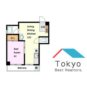 1DK Mansion in Shimorenjaku - Mitaka-shi Floorplan