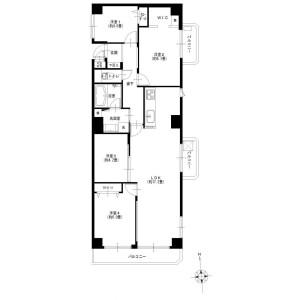4LDK {building type} in Shimmarukohigashi - Kawasaki-shi Nakahara-ku Floorplan