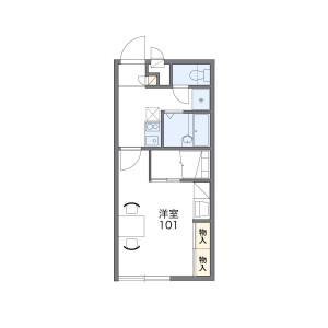 1K Apartment in Notame - Fukuoka-shi Minami-ku Floorplan