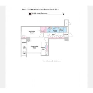 中央區湊-1LDK公寓大廈 房間格局