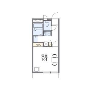 1K Apartment in Higashionuma - Sagamihara-shi Minami-ku Floorplan