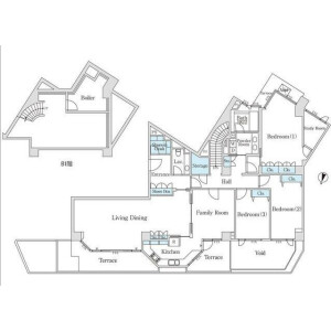 3SLDK Mansion in Motoazabu - Minato-ku Floorplan