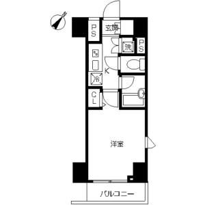 1K Mansion in Kitashinagawa(1-4-chome) - Shinagawa-ku Floorplan