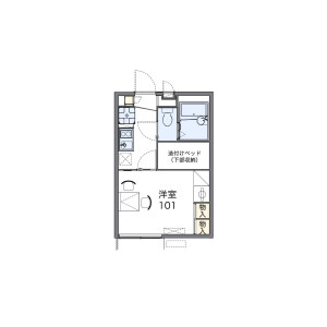 1K Apartment in Nishibori - Niiza-shi Floorplan
